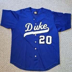 VTG 90's Wilson NCAA Duke Baseball Jersey - Large